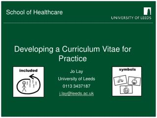 Developing a Curriculum Vitae for Practice