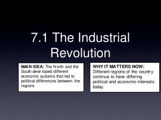 7.1 The Industrial Revolution