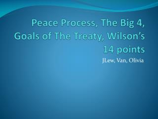 Peace Process, The Big 4, Goals of The Treaty, Wilson's 14 points