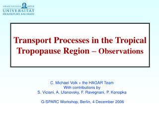 Transport Processes in the Tropical Tropopause Region –  Observations