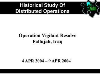 Historical Study Of  Distributed Operations