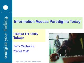 Information Access Paradigms Today