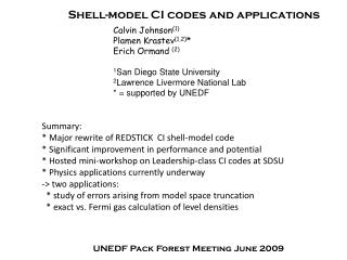 Shell-model CI codes and applications