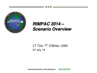 RIMPAC 2014 –  Scenario Overview