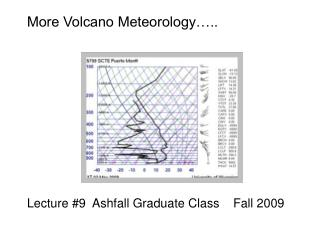 More Volcano Meteorology…..