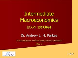 Intermediate Macroeconomics ECON 15575084