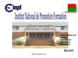 Institut National de Promotion Formation