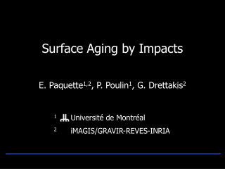 Surface Aging by Impacts