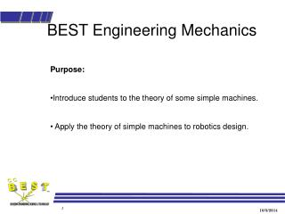 BEST Engineering Mechanics