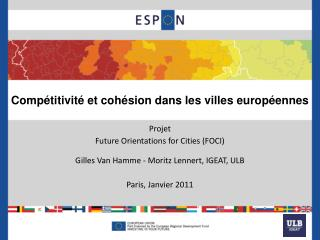 Compétitivité et cohésion dans les villes européennes
