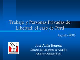 Trabajo y Personas Privadas de Libertad: el caso de Perú