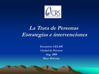 La Trata de Personas   Estrategias e intervenciones