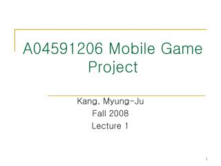 A04591206 Mobile Game Project