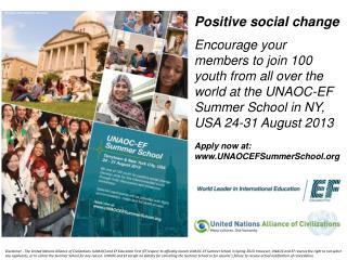 Positive social change