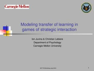 Modeling transfer of learning in games of strategic interaction