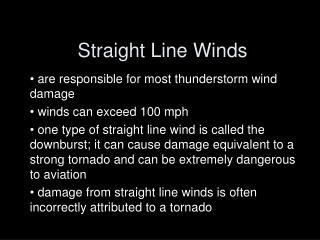 Straight Line Winds