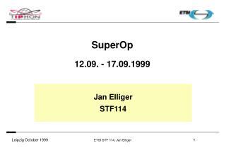 SuperOp 12.09. - 17.09.1999
