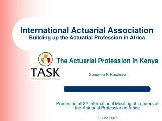 International Actuarial Association  Building up the Actuarial Profession in Africa