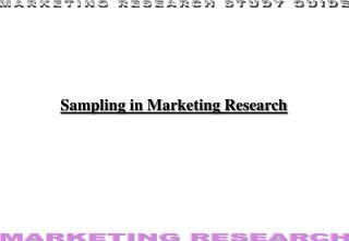 Sampling in Marketing Research