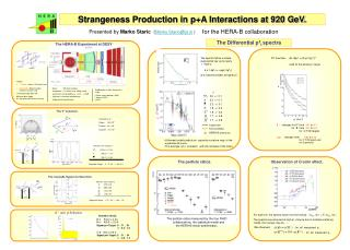 Strangeness Production in p+A Interactions at 920 GeV.