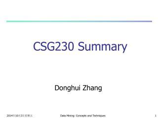 CSG230 Summary