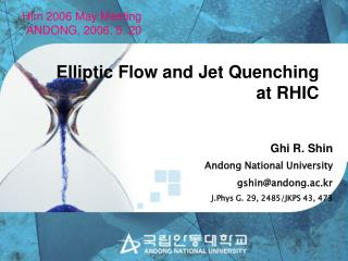 Elliptic Flow and Jet Quenching at RHIC