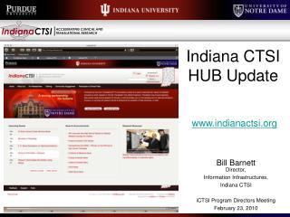 Indiana CTSI HUB Update