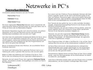 Netzwerke in PC's