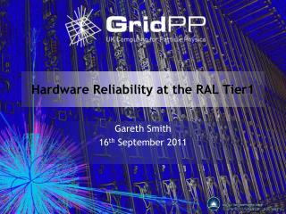 Hardware Reliability at the RAL Tier1