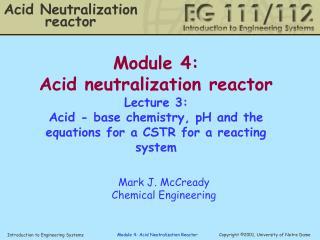 Acid Neutralization reactor