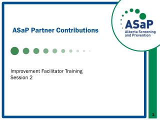 ASaP  Partner Contributions