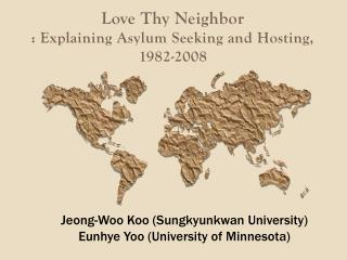 Love Thy Neighbor : Explaining Asylum Seeking and Hosting,  1982-2008