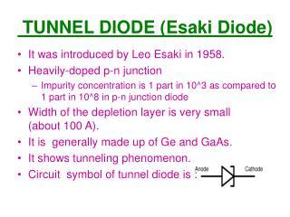 TUNNEL DIODE (Esaki Diode)