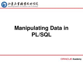 Manipulating Data in PL/SQL