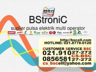 BStroniC suplier pulsa elektrik multi operator