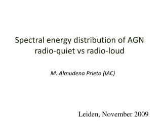 Spectral energy distribution of AGN radio-quiet vs radio-loud