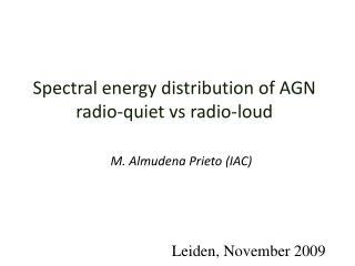 Spectral energy distribution of AGN radio-quiet vs radio-loud