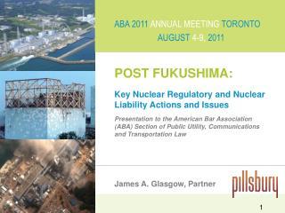 POST FUKUSHIMA: