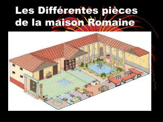 Les Différentes pièces de la maison Romaine