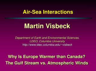 Air-Sea Interactions