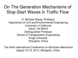 On The Generation Mechanisms of Stop-Start Waves in Traffic Flow
