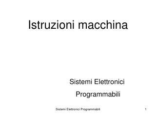 Istruzioni macchina