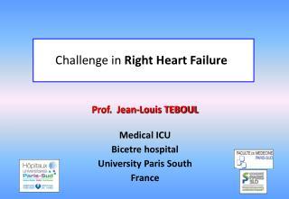 Prof.  Jean-Louis TEBOUL Medical ICU Bicetre hospital University Paris South France