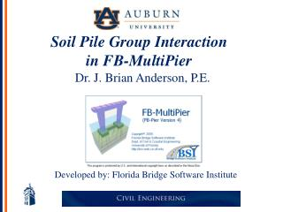 Soil Pile Group Interaction  in FB-MultiPier