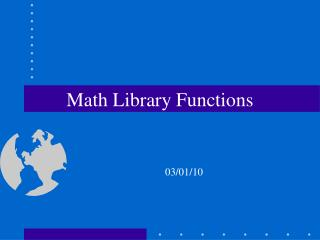 Math Library Functions