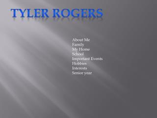 Tyler Rogers