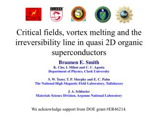 Critical fields, vortex melting and the irreversibility line in quasi 2D organic superconductors