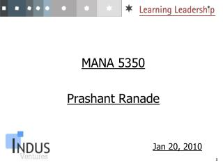 MANA 5350 Prashant Ranade