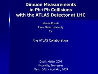 Dimuon Measurements in Pb+Pb Collisions with the ATLAS Detector at LHC