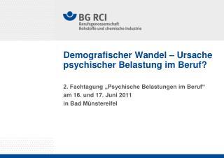 Demografischer Wandel – Ursache psychischer Belastung im Beruf?